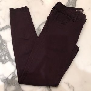 Maroon stretchy pants
